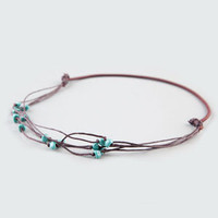 FULL TILT Turquoise Bead Cord Headband 210320400 | Hair Accessories  | Tillys.com