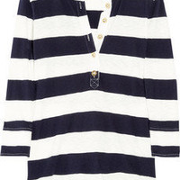 J.Crew|Striped cotton Henley top|NET-A-PORTER.COM