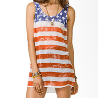 Distressed American Flag Tunic
