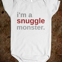 i'm a snuggle monster. - Underline Designs - Kids Onesuit