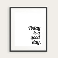 Inspirational Typography Print  Quote Poster  by happyprintsshop