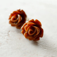 Neutral Roses Earrings