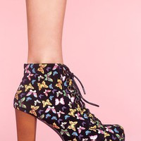Lita Platform Boot - Butterfly in  Shoes at Nasty Gal