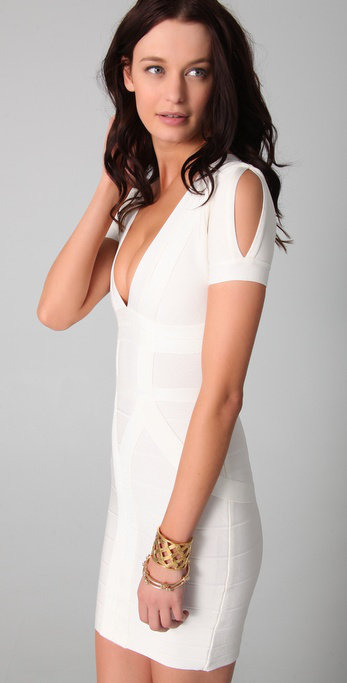 Starry special sleeve bandage dress