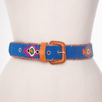 Badlands Woven Belt - Cobalt in  Accessories at Nasty Gal