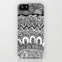 Black and White Doodle iPhone Case by Kayla Gordon | Society6