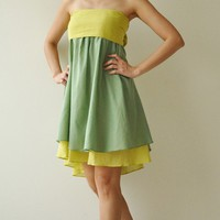 Wind of change Part II Green Cotton Dress by aftershowershop
