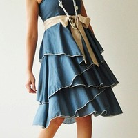 Waft    Dark Blue Cocktail Dress 2 Sizes by aftershowershop