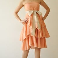 Waft  OrangeCream Cocktail Dress 2 Sizes by aftershowershop