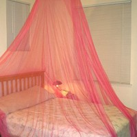 Twin / Crib , Full or Queen Size Bed Canopy, Hot Pink Color
