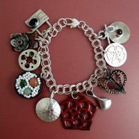 Japan Aid Charm Bracelet by EtsyMetal on Etsy