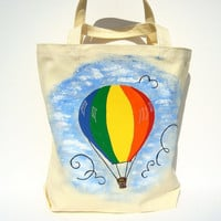 Hand Bag Tote Purse Hot Air Balloon Bag