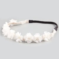FULL TILT Chiffon Flower Pearl Headband