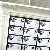 Wedding Seating Chart CHALKBOARD Wedding Menu by ShugabeeLane