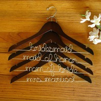 Custom Bridal Hanger - Customize the Name  Color - Whimsical  Unique Gift Ideas for the Coolest Gift Givers