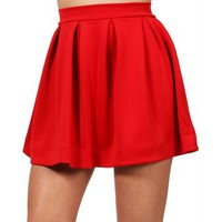 Red Back Zipper Skirt