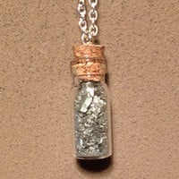 Pyrite Dust Vial Necklace