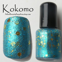 Kokomo Nail Polish 8ml Vegan  Glitter Polish by AdorBeautySupplies