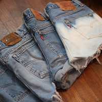 MADE TO ORDER custom high waisted denim shorts