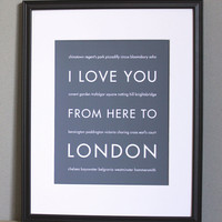 London Art Print, 8x10 | Luulla