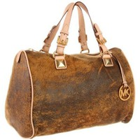 MICHAEL Michael Kors Grayson Distressed Large Satchel - designer shoes, handbags, jewelry, watches, and fashion accessories | endless.com