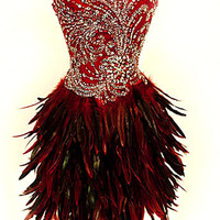 Red Crystal Black Corset...