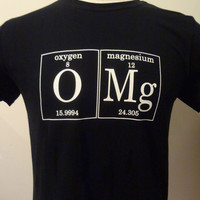 OMg Periodic Table Men's TShirt by by periodicallyinspired on Etsy