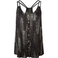 FULL TILT Feather Button Front Womens Tank 201769957 | Knit Tops & Tees | Tillys.com