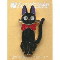 Pin Badge - Jiji with Ribbon - Kiki's Delivery Service - Ghibli (new)