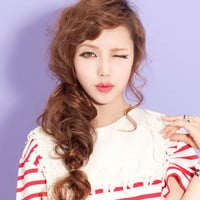 Wavy Curly Hair Extension Hairpiece Ponytail Bun 6 Colors Rope-L