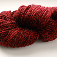 Hand Spun Merino Wool Bulky / Heavy Worsted Desert Red