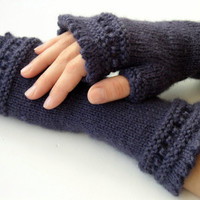 Fingerless Gloves  You Pick Color by PurlsandIvy on Etsy