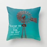 Kiss the Sky  Throw Pillow by Tara Yarte  | Society6
