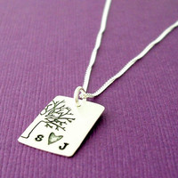 Personalized Sterling Silver Necklace by EclecticWendyDesigns
