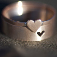 Tiny Heart Couple Rings by Anilani on Etsy