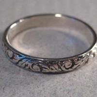New Leaf Sterling Silver Ring by DragonsBreath on Etsy