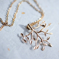 My Happy Tree gold fill chain Necklace with tiny pendant by pardes