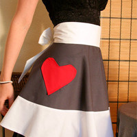 Sexy cook half apron special Valentine&#x27;s by EnvironmentallyYours