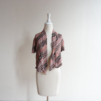 aztec top / tribal top / women's vintage clothing
