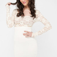 Bouquet Lace Dress in Ivory :: tobi
