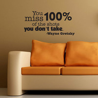 Hockey Wall Decal WAYNE GRETZKY'S Quote by InspirationsByAmelia