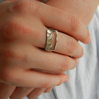 $58.00 Sterling Silver Mountain Traveler Ring by silverlode on Etsy