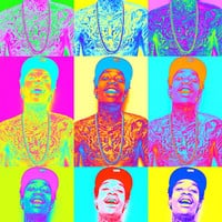 Wiz Khalifa Vintage Colorful Print Pop Art Poster