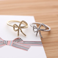 big RIBBON ring with crystals, 2 colors | girlsluv.it