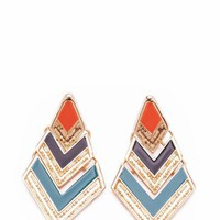 chevron shape earrings $12.70 in MUSTARDGLD RUSTGLD - Earrings | GoJane.com