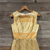 Vintage Bohemian Party Dress, Sweet Vintage Rugged Clothing