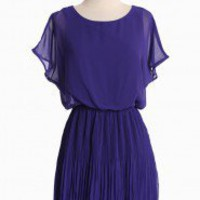 Old Towne Adventures Pleated Dress In Indigo | Modern Vintage Dresses