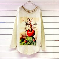 Apple Tree Women Sweatshirt