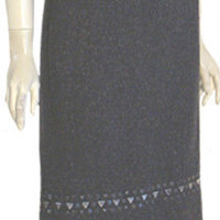 Talbots NWT $158 Gray Tweed Skirt Studs Size 16
