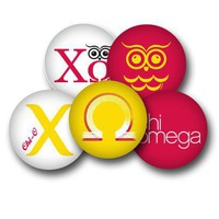 Chi Omega Sorority Button Set - Chi Omega - Greek
